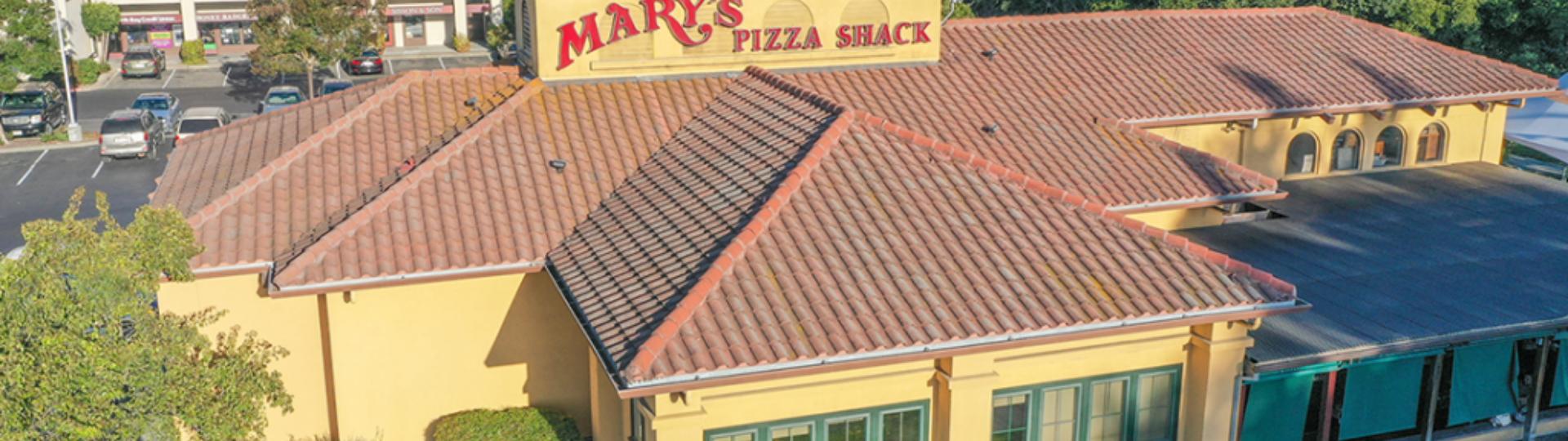 mary's pizza shack exterior