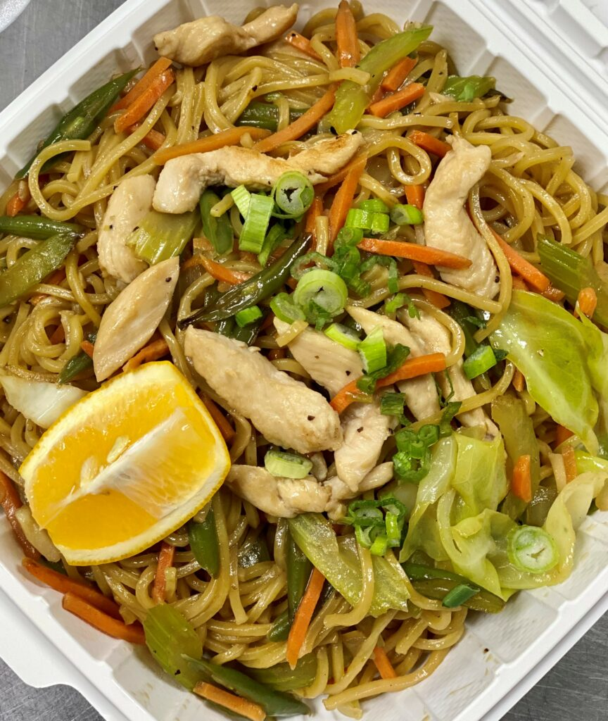 take out noodles and chicken